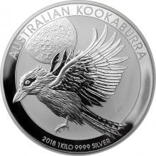 Stříbrná investiční mince Kookaburra Ledňáček 1 Kg 2018