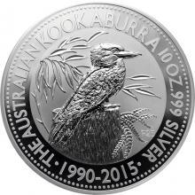 Stříbrná investiční mince Kookaburra Ledňáček 10 Oz 2015