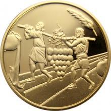 Zlatá mince Dvanáct zvědů 10 NIS Izrael Biblické umění 2019 Proof