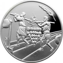 Stříbrná mince Dvanáct zvědů 2 NIS Izrael Biblické umění 2019 Proof