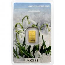 1g Argor Heraeus Following Nature III. - Zima 2019/20 investiční zlatý slitek
