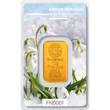 10g Argor Heraeus Following Nature III. - Zima 2019/20 investiční zlatý slitek