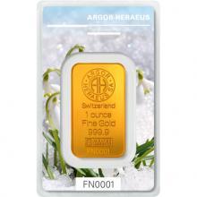 31,1g Argor Heraeus Following Nature III. - Zima 2019/20 investiční zlatý slitek