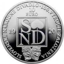 Stříbrná mince Slovenské národní divadlo - 100. výročí založení 2020 Proof