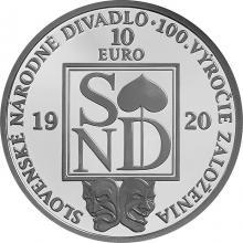 Strieborná minca Slovenské národné divadlo - 100. výročie založenia 2020 Proof