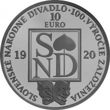 Stříbrná mince Slovenské národní divadlo - 100. výročí založení 2020 Standard