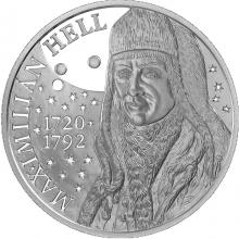 Strieborná minca Maximilián Hell - 300. výročie narodenia 2020 Proof