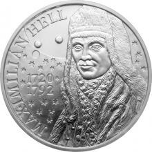 Stříbrná mince Maximilián Hell - 300. výročí narození 2020 Standard