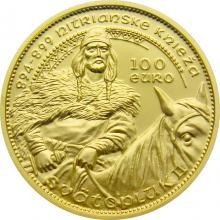 Zlatá mince Nitrianský kníže Svatopluk II. 2020 Proof