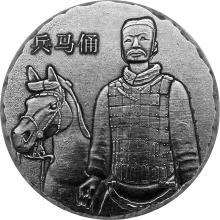 Stříbrná investiční mince 5 Oz Terakotová armáda 2019 Antique Standard