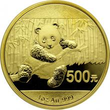 Zlatá investičná minca Panda 1 Oz 2014