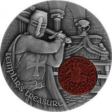 Stříbrná mince 2 Oz Poklad templářů 2020 Antique Standard