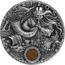 Stříbrná mince Slovanští bohové - Stribog 2 Oz 2020 Antique Standard