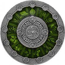 Strieborná minca Kalendár Keltov 2 Oz 2020 Antique Standard
