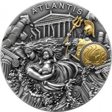 Stříbrná mince Atlantida 2 Oz 2019 Antique Standard