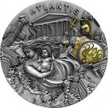 Strieborná minca Atlantída 2 Oz 2019 Antique Standard