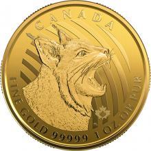Zlatá investiční mince Bobcat 1 Oz 2020 (.99999)