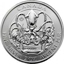 Stříbrná investiční mince Kraken 2 Oz 2020