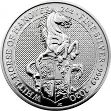 Stříbrná investiční mince The Queen's Beasts The White Horse 2 Oz 2020