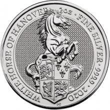 Stříbrná investiční mince The Queen's Beasts The White Horse 2 Oz 2020