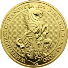 Zlatá investiční mince The Queen's Beasts The White Horse 1 Oz 2020