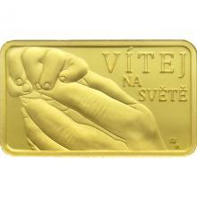 Zlatá mince k narození dítěte Vítej na světě 2021 Proof