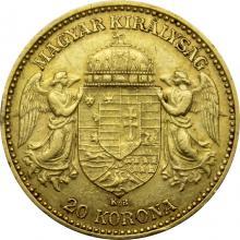 Zlatá mince Dvacetikoruna Františka Josefa I. Uherská ražba 1901