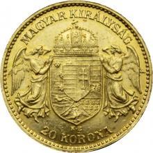 Zlatá mince Dvacetikoruna Františka Josefa I. Uherská ražba 1912