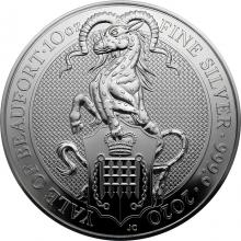 Stříbrná investiční mince The Queen´s Beasts The Yale 10 Oz 2020