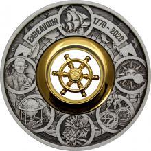 Stříbrná mince 2 Oz 250. výročí objevné plavby Endeavour 2020 Antique Standard