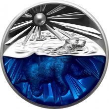 Stříbrná mince 4 Oz Příběhy Země - Lední medvěd Proof