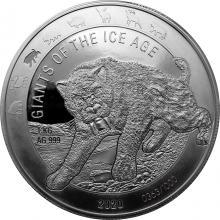 Stříbrná investiční mince 1 Kg Obři doby ledové - Šavlozubý tygr 2020