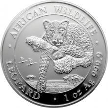 Stříbrná investiční mince Leopard Somálsko 1 Oz 2020
