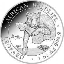 Strieborná investičná minca Leopard Somálsko 1 Oz 2020