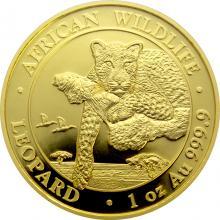 Zlatá investiční mince Leopard Somálsko 1 Oz 2020