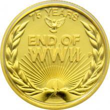 Zlatá minca 75. výročie konca 2. svetovej vojny 1/4 Oz 2020 Proof