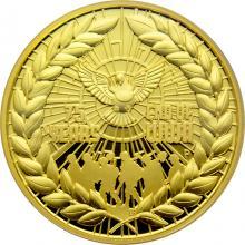 Zlatá mince 2 Oz 75. výročí konce 2. světové války 2020 Proof