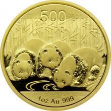 Zlatá investiční mince Panda 1 Oz 2013