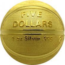 Stříbrná pozlacená mince Basketbal 1 Oz 2020 Proof