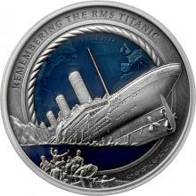 Stříbrná mince 3 Oz 35. výročí od objevení vraku Titanicu 2021 Antique Standard