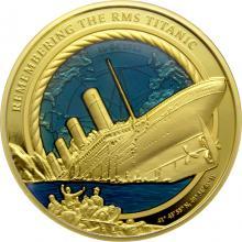 Zlatá mince 3 Oz 35. výročí od objevení vraku Titanicu 2021 Proof