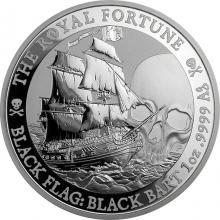 Stříbrná investiční mince Black Flag - Royal Fortune 1 Oz 2020