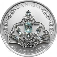 Stříbrná mince Brazilská akvamarínová tiára 1 Oz 2020 Proof