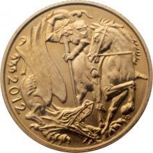 Zlatý Sovereign Královna Alžběta II. - Diamantové jubileum 2012
