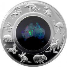 Stříbrná mince Great Southern Land Austrálie 1 Oz Opál 2020 Proof