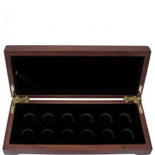 Dřevěná krabička 12 x Au 1/10 Oz Lunární série III. 2020 - 2031