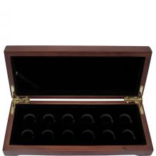 Drevená krabička 12 x Au 1/10 Lunárny série III. 2020 - 2031