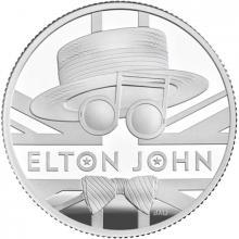 Stříbrná mince Hudební legendy - Elton John 1/2 Oz 2020 Proof