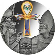 Strieborná kolorovaná minca Egyptský Anch 1 Oz 2020 Proof