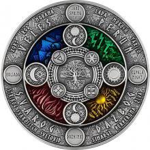 Stříbrná mince Kalendář Slovanů 2 Oz 2020 Antique Standard